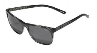 Classic Racing系列灰黑大理石紋  太陽眼鏡綴暗銀色鈦金屬彈性鏡腿