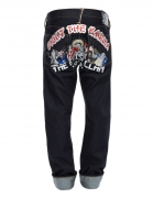 evisu clan 1ESGMM6JE18708 EMBROIDERY 2008 REGULAR FIT SELVAGE DENIM JEANS HKD 3,499 (BACK)