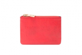 juicy couture spring 2016   CASCADING JUICY ZIP POUCH RED 6003 HKD 490