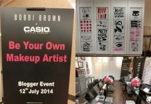 bobbi brown x casio digital camera blogger event