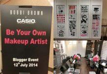 bobbi brown x casio digital camera blogger event