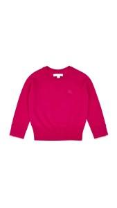 Burberry Check Cuff Cashmere Sweater - Fuchsia Pink HKD 2100