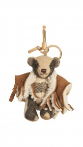 Burberry Thomas Bear Charm in Check Cashmere with Poncho - Camel_Brown HKD 2200