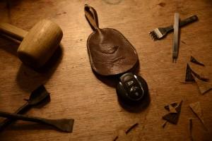 Car Key Leather Pouch