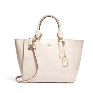 Coach CROSBY白色皮革手袋 HKD6,100