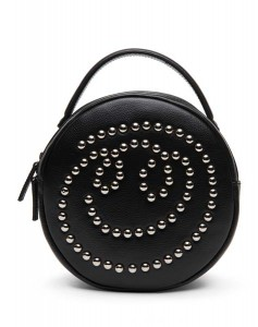 PEDDER RED X KYE AW15_SMILEY FACE LEATHER ROUND STRING BAG_HKD1290