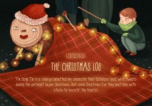 catalonia christmas log