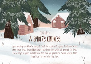 ukraine spider kindness christmas