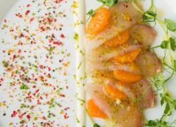 the intercontinental_Lightly cured and smoked yellowtail kingfish