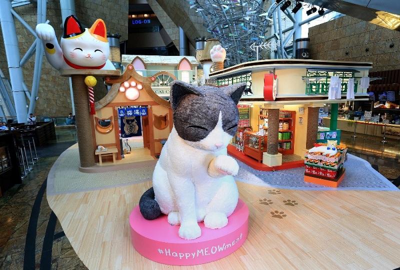 朗豪坊-HappyMEOWment-喵民遊樂園-Langham-place-mk-hk-mall-summer-cat-cafe-meowshop-cat-satoruko-higemanju (1)