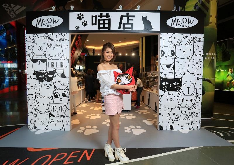 朗豪坊-HappyMEOWment-喵民遊樂園-Langham-place-mk-hk-mall-summer-cat-cafe-meowshop-cat-satoruko-higemanju (5)