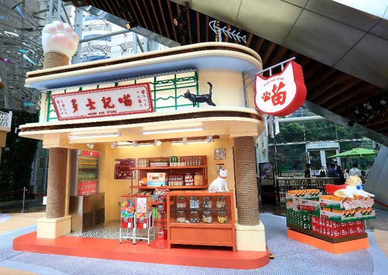 朗豪坊-HappyMEOWment-喵民遊樂園-Langham-place-mk-hk-mall-summer-cat-cafe-meowshop-cat-satoruko-higemanju (6)