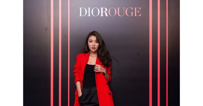 薛凱琪 at rouge dior lipstick party