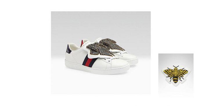 Gucci Ace 運動鞋附有可替換的布章