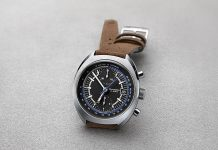 retro style chrono watch by Oris