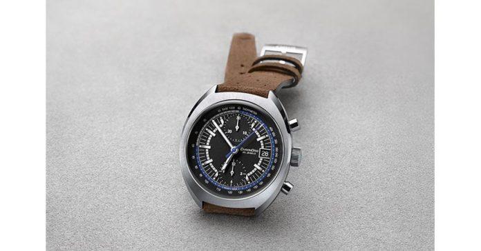 retro style chrono watch by Oris