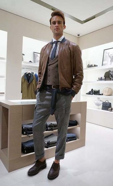men's fashion model for brunello cucinella hong kong
