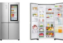 LG knock-on 功能 食物保存新方式,輕輕兩敲,不用打開雪櫃門也能即時觀察食材狀況
