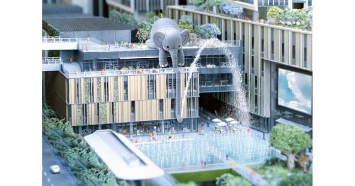 大型戶外大象藝術裝置