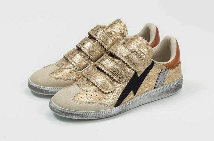 trendy gold-color women's sneakers Autumn 2017 by Isabel Marant