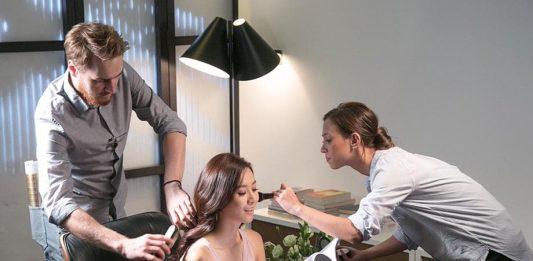 Fala Chen is spokeswoman for Revlon Just Push hair color spray