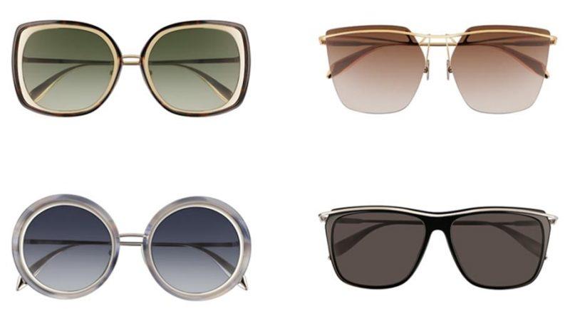 Alexander McQueen 春夏2018 雕刻金屬 Sculpted Bar 太陽眼鏡