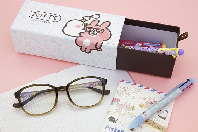 日本眼鏡品牌 Zoff x Kanahei P助與粉紅兔兔藍光眼鏡系列
