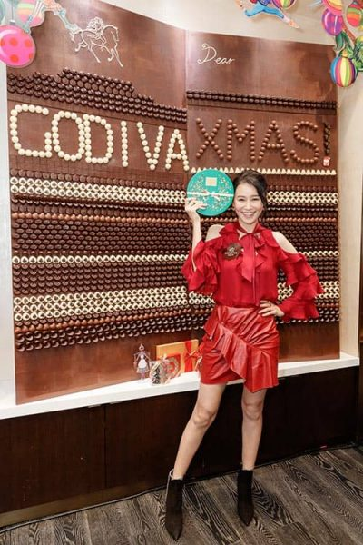 翠如bb attend godiva xmas press event