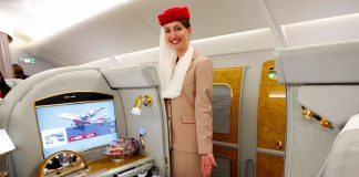 emirates first class flying experience