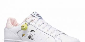 lovely snoopy sneakers with a tennis ball pendant