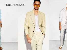 Mens Fashion, jacket and suit design by Tom Ford for SS21
